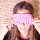 Womens Cosy Knitted And Liberty Sleep Mask