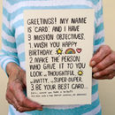 Secret Misson! Joke Birthday Card