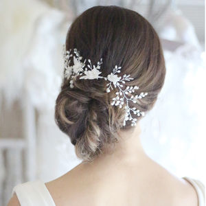 Emily Freshwater Pearl Bridal Hair Vine - hair accessories