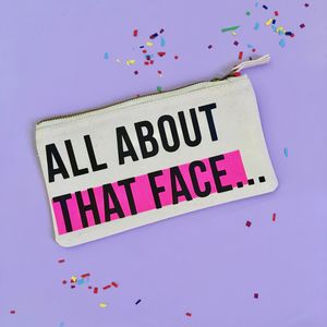 'All About That Face' Makeup Bag