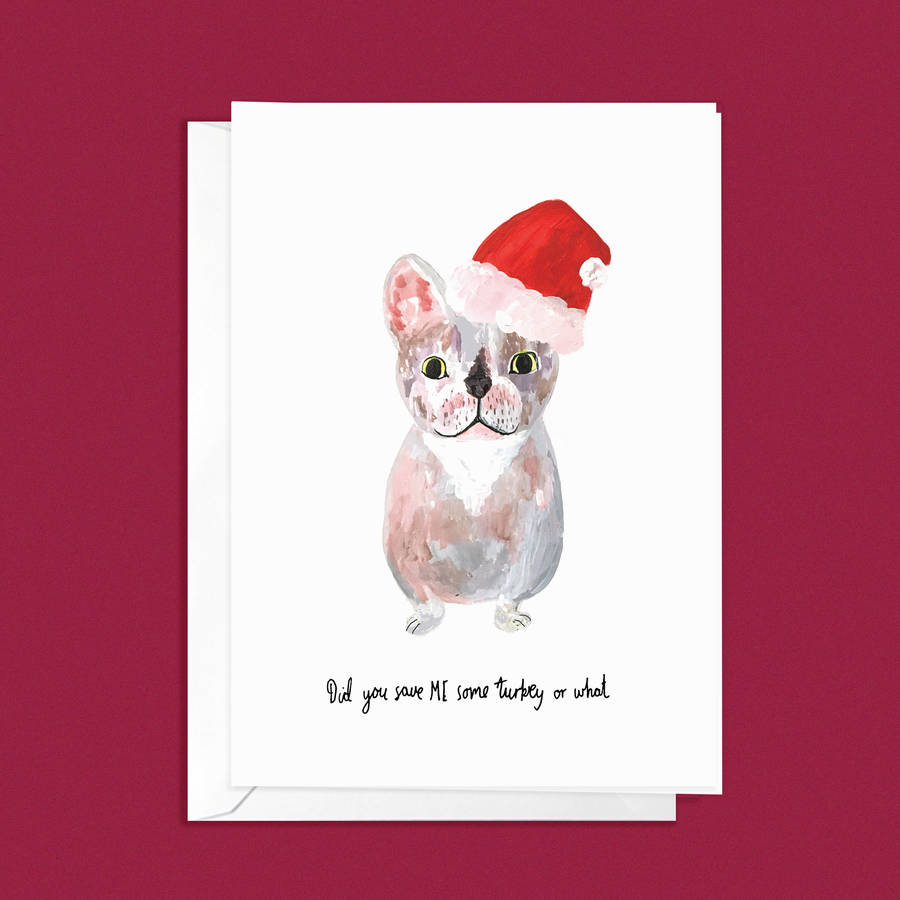 French Bulldog Christmas Cards - Merry Christmas French Bulldog ...