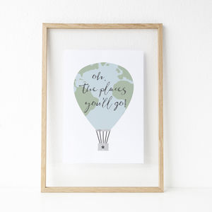 'Oh, The Places You'll Go' Balloon Print