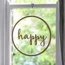 Happy Wooden Hanging Decoration
