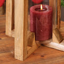 Industrial Wooden Lantern Candle Holder