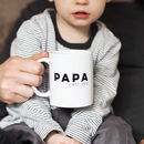 Personalised Papa Mug Father's Day Gift
