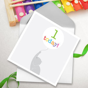 Early Years Elephant Age Birthday Cards - shop by category