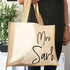 Personalised Teacher Gift Jute Bag - totes