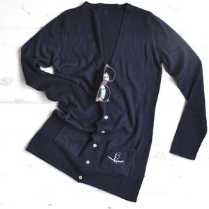 Embroidered Monogram Cardigan - jumpers & cardigans