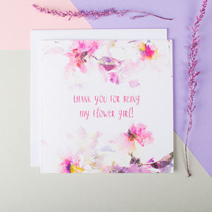 'Thank You For Being My Flower Girl' Card