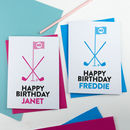 Golf Birthday Card Personalised