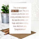 New Baby Card 'Not A Typical' Rose Gold Foil