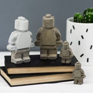 Concrete Decorative Toy Man - decorative accessories