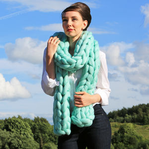 Diy Giant Scarf Kit Arm Knitting Kit - sewing & knitting