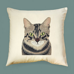 Tabby Cat Cushion Cover