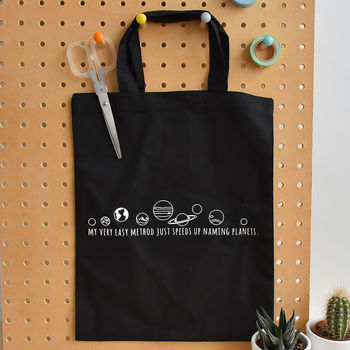 Planet Mnemonic Small Tote Bag