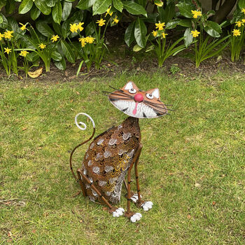 Cat Garden Solar Light Ornament