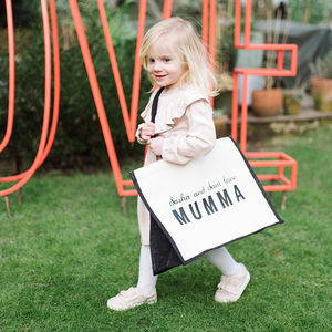 Personalised Love Mummy Bag - gifts from younger children