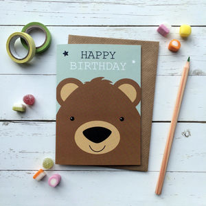 Cute Bear Birthday Card