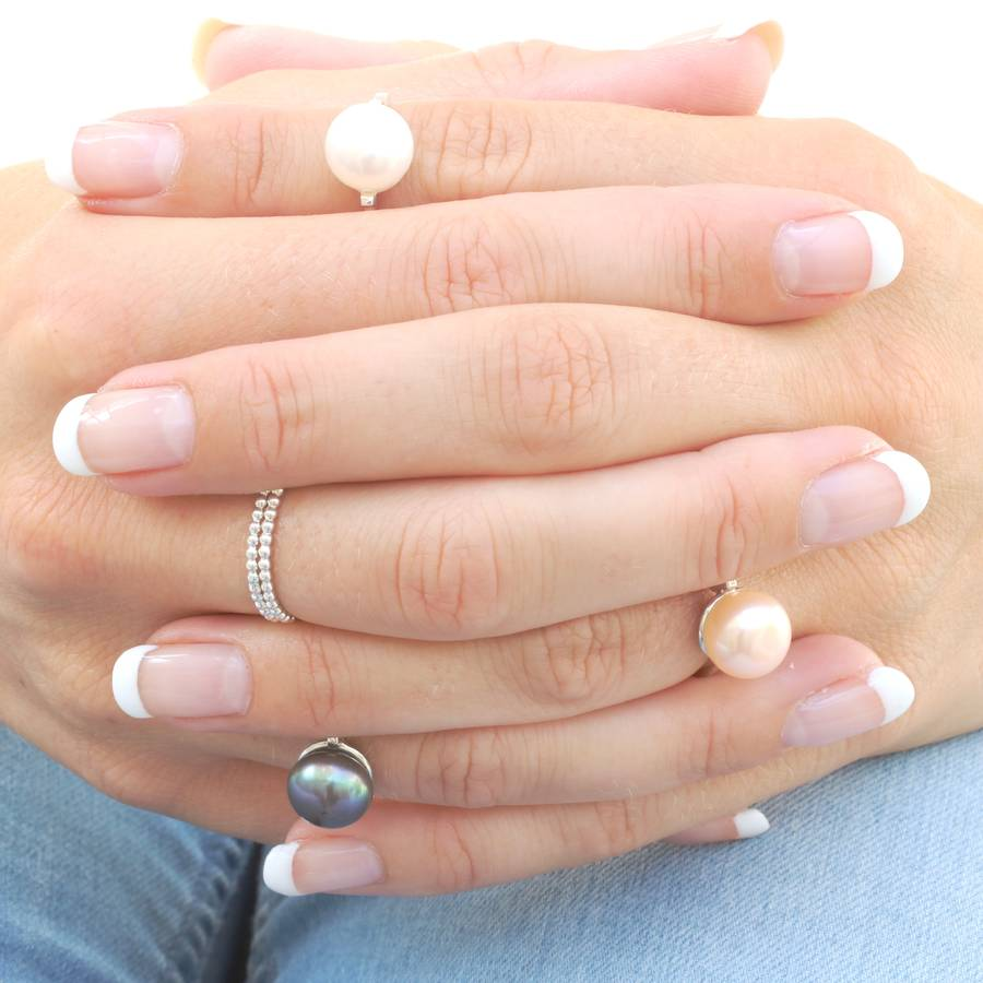 30th Gift Pearl Ring