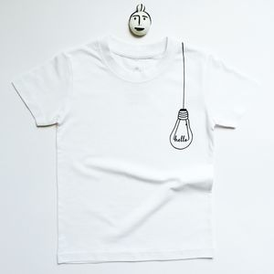 Hanging Bulb T Shirt - the monochrome edit