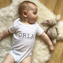 Personalised Name Meaning Babygrow