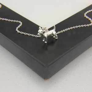 Chihuahua Necklace In Sterling Silver