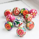 Bright Floral Handpainted Drawer Knobs