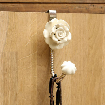 Single Flower Over The Door Hook