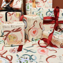 Festive Bauble Eco Friendly Recycled Wrapping Paper