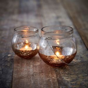 Dipped Copper Tea Light Holder - tableware