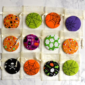 'Halloween' Set Of 12 Pocket Compact Mirrors