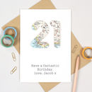 Map Location Special Age 21 Birthday Card