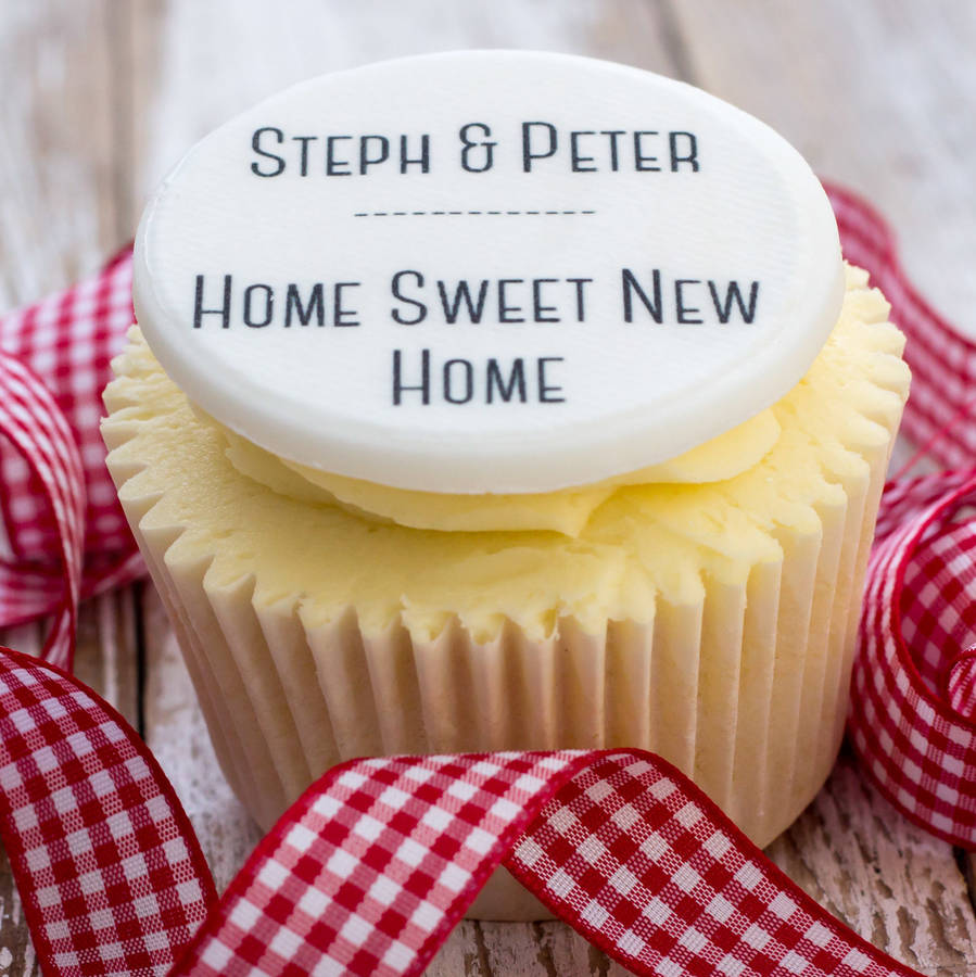 new home cupcake decorations by just bake | notonthehighstreet.com