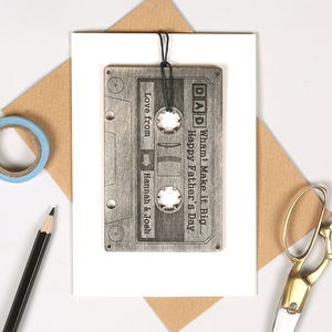 Personalised Father's Day Keepsake Cassette Card - what's new