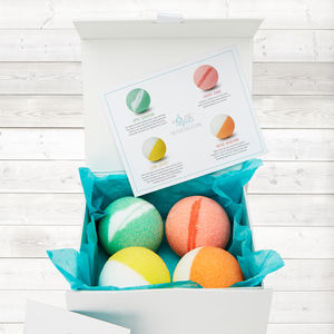 Fruit Collection Organic Bath Bomb Gift Set - organic beauty