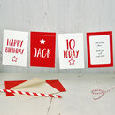 Personalised Bunting Age Birthday Card