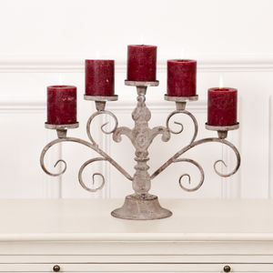 Victorian Five Pillar Candelabra - table decorations
