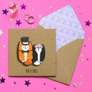 Mr And Mrs Handmade Cat Wedding Card