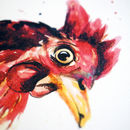 Inky Chicken Blank Greetings Card