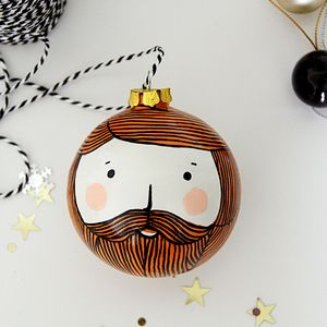 Bearded Man Christmas Bauble - tree decorations