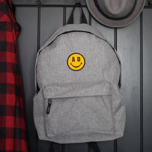 'Smiley Face' Grey Backpack - men's accessories