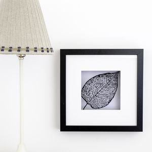 Framed Paper Cut Leaf Scene