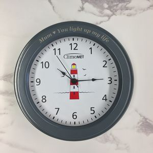 Personalised Red Lighthouse Wall Clock
