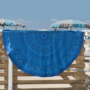 Round Mosaic Design Large Beach Towel