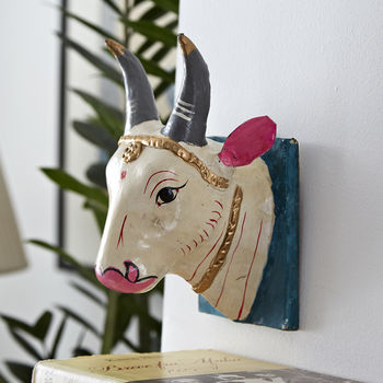 Wall Mounted 'Holy Cow' Head