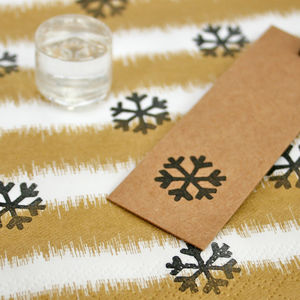 Snowflake Crystal Clear Stamp - cards & wrap