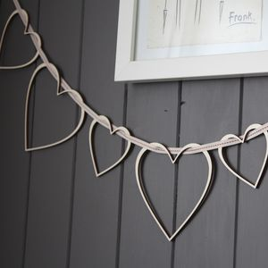 Heart Strings Wooden Garland