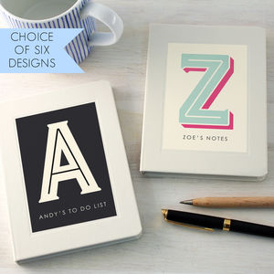 Personalised Typographic Notebook - stocking fillers