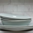 Grey Stoneware Salad Or Serving Bowl