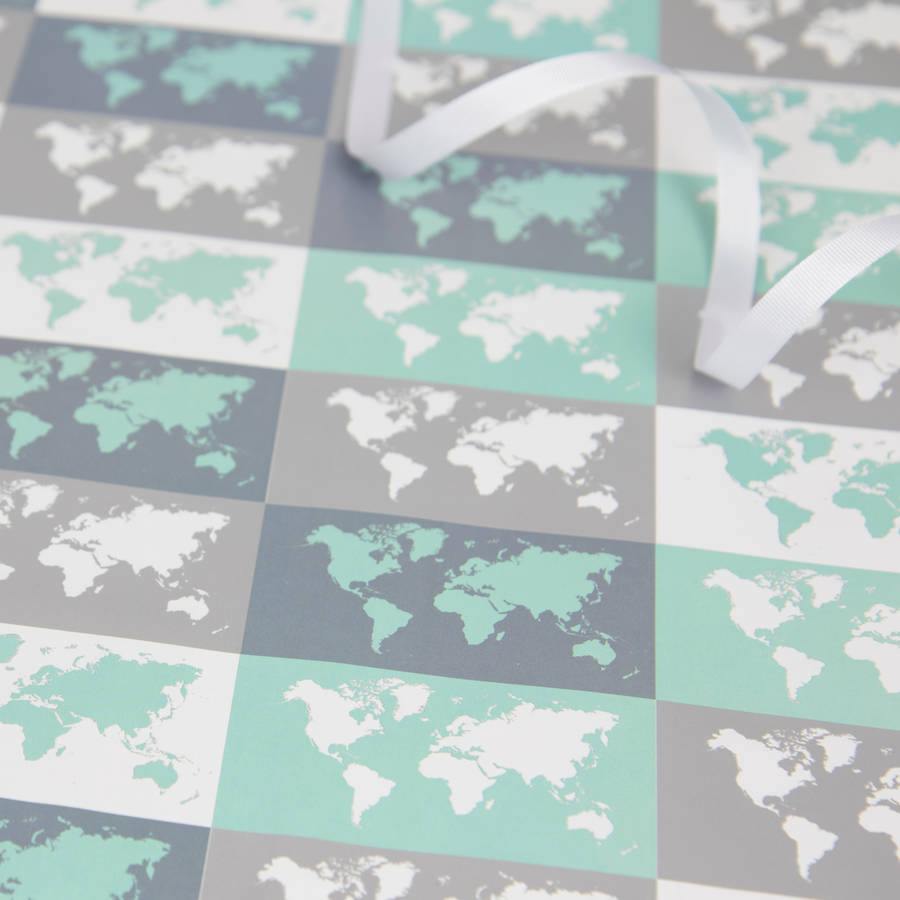 Metallic world map gift wrap by maps international metallic world map gift wrap gumiabroncs Image collections